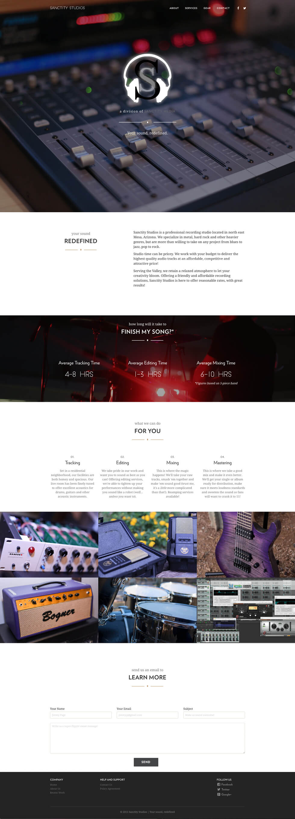 Website one-page redesign