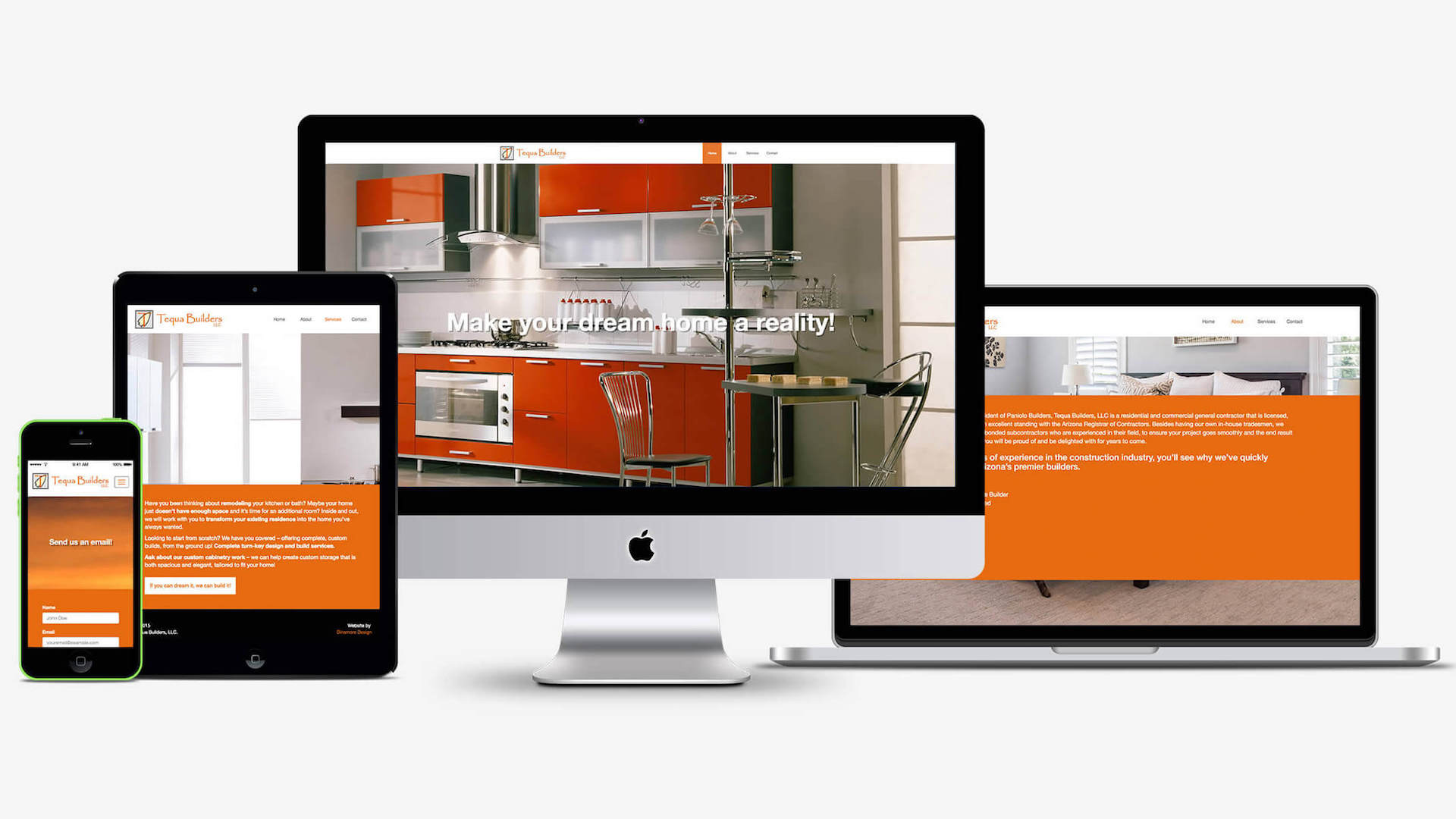 Tequa Builders | Website Redesign